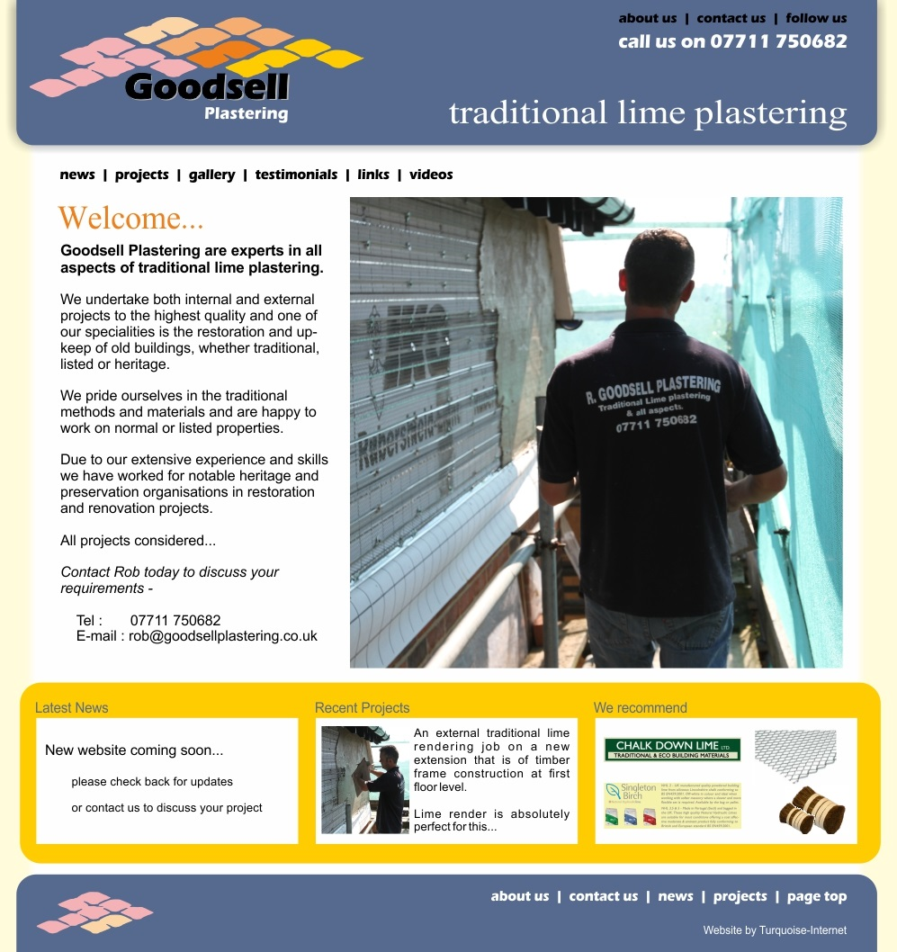 Goodsell Plastering - traditional lime rendering and plastering experts in East Sussex